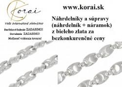 Náhrdelníky a súpravy z bieleho zlata KORAI